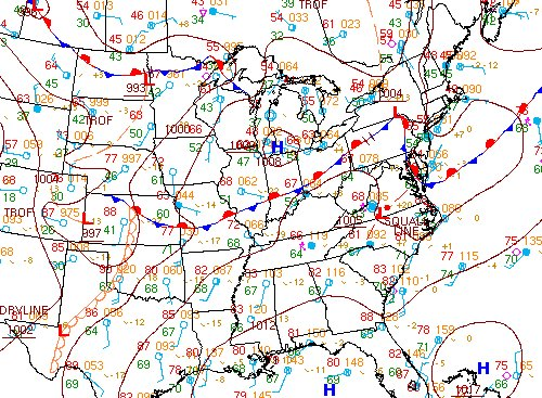 Stationary front across the Midwest