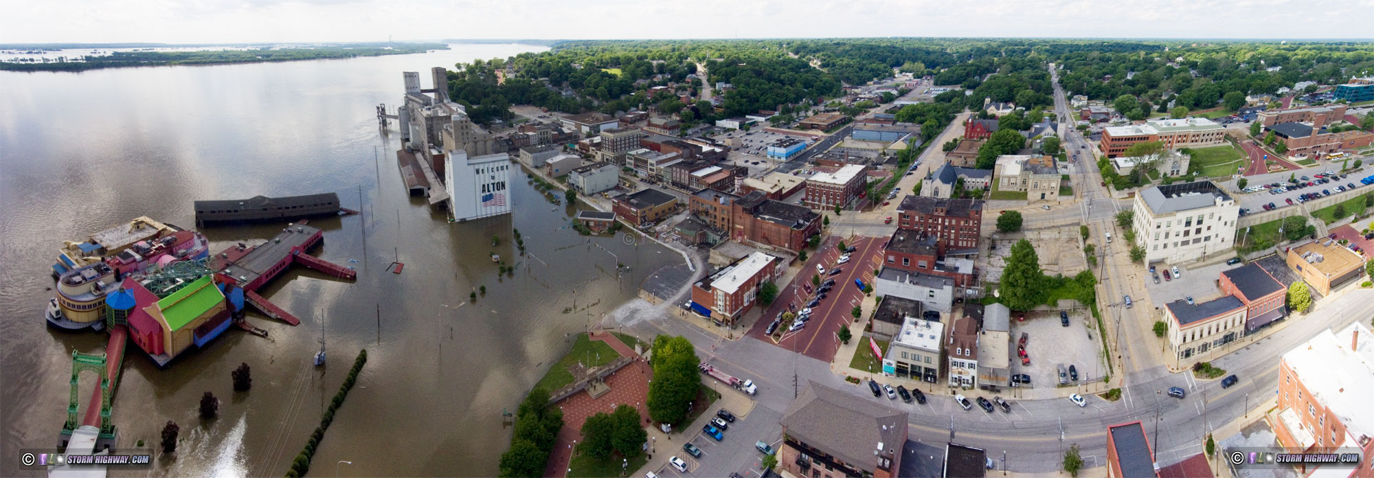 Alton, IL flood 2019
