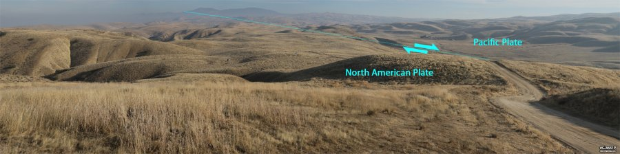 San Andreas Fault in the Carrizo Plain National Monument, CA