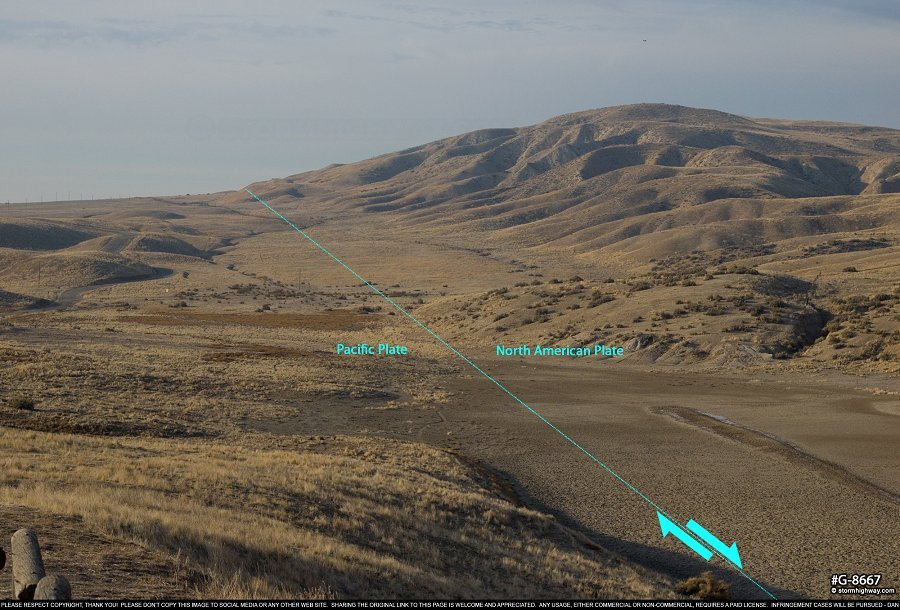 San Andreas Fault in the Carrizo Plain National Monument
