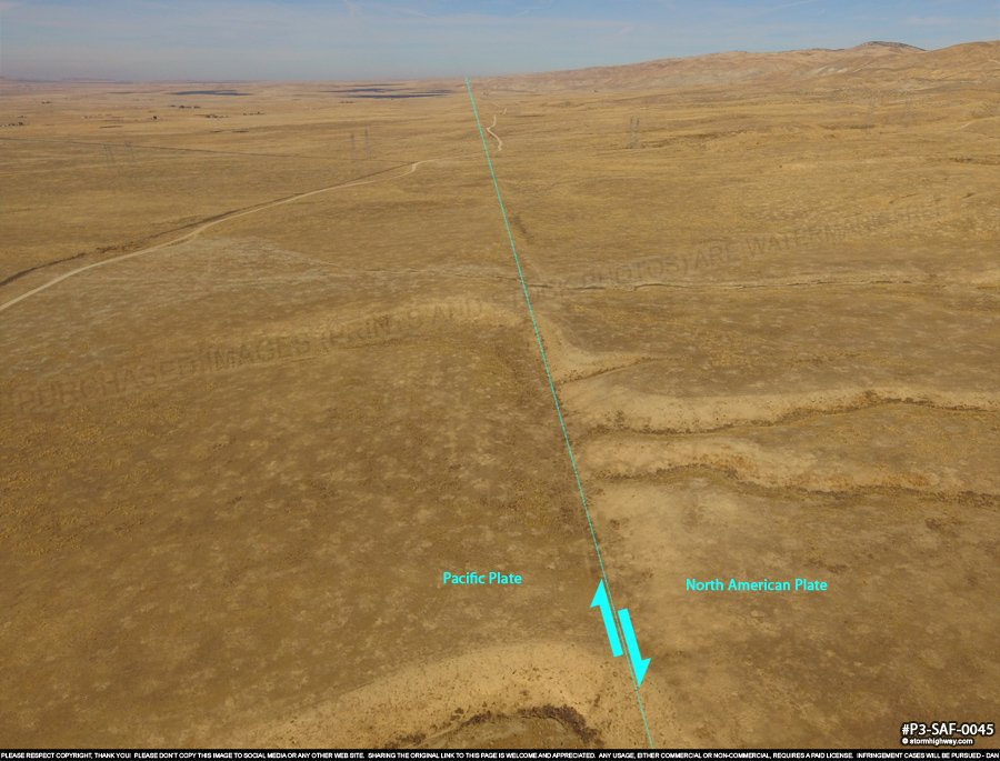 San Andreas Fault in the Carrizo Plain, CA