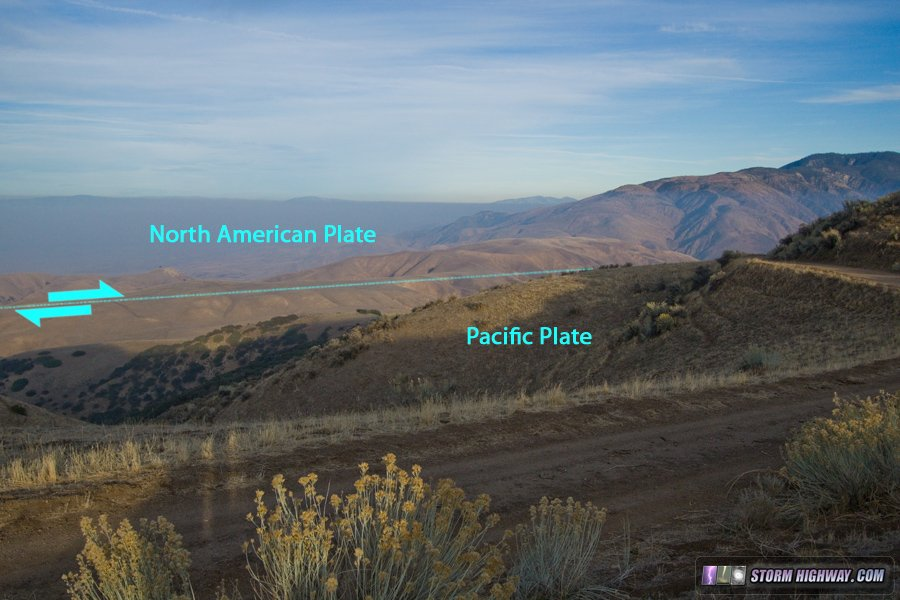 San Andreas Fault zone at a distance from Hudson Ranch Road