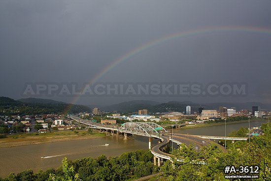 Rainbow over the Fort Hill Bridge