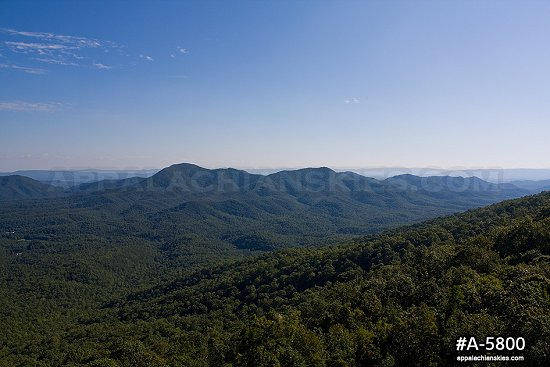 Blue Ridge Mountains in summer