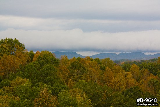 WV fall colors and approaching storm