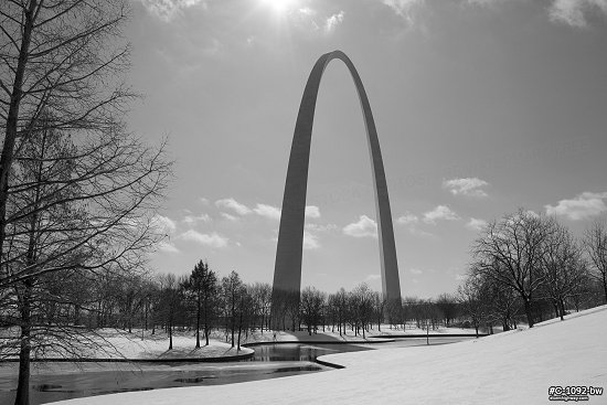 Arch grounds snow