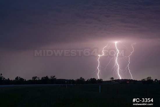 Vivid strikes near I-44 in NE Oklahoma