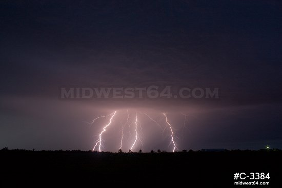 Bright bolts in Miami, Oklahoma