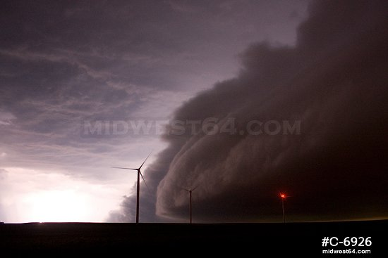 Thunderstorm and Wind Turbines