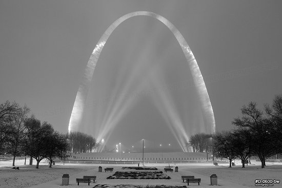 Arch snowstorm