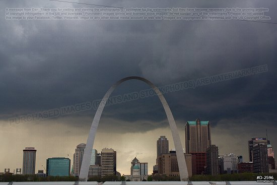Dark storm clouds over St. Louis