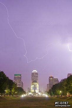 Lightning over Indianapolis