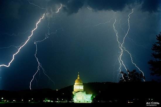 Lightning over the State Capitol